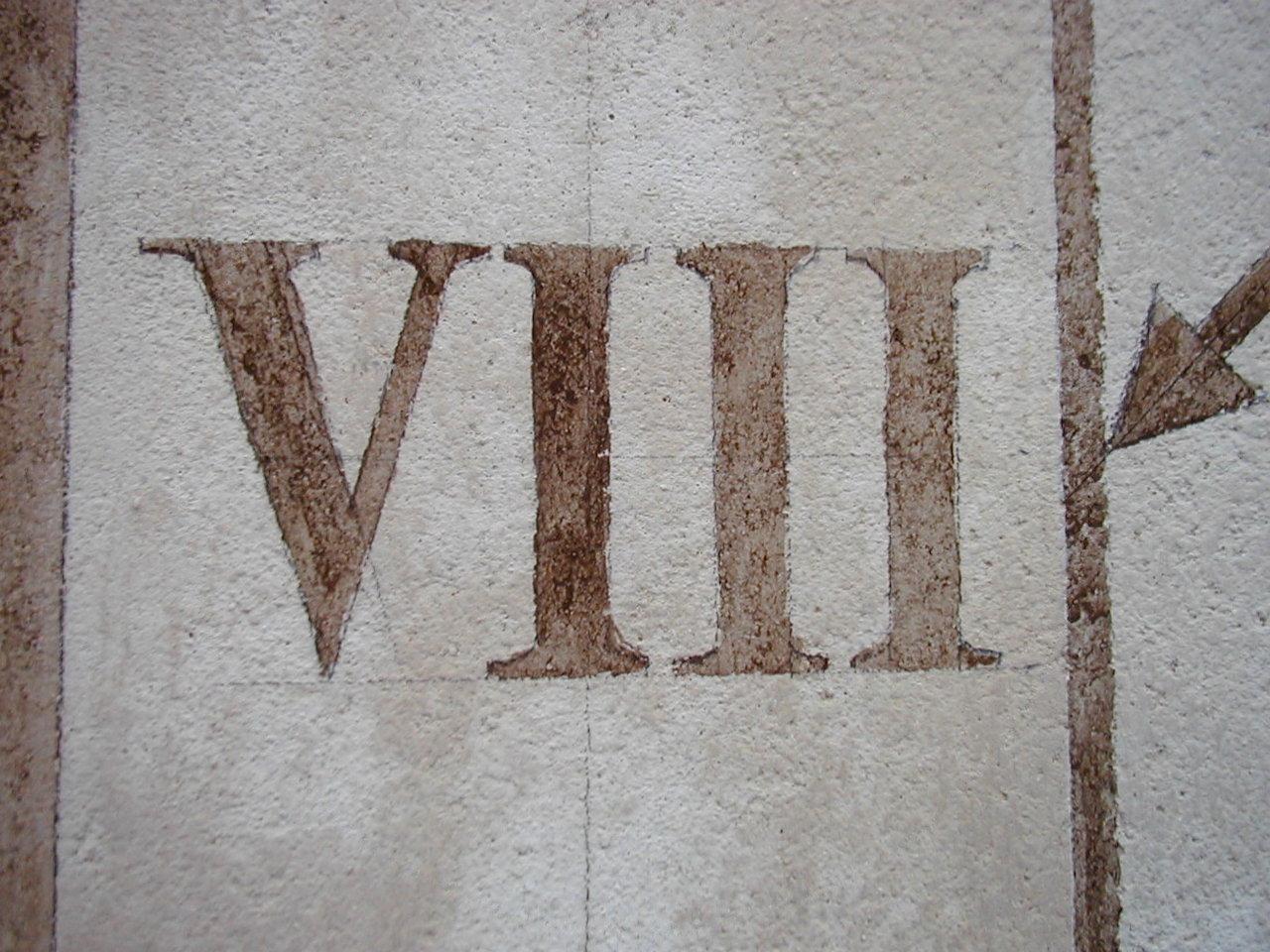 détail chiffre peint cadran Château de Breteuil fi_1